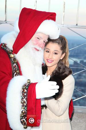 Santa Claus and Ariana Grande