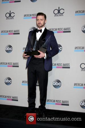 Justin Timberlake - 2013 American Music Awards held at Nokia Theatre - Press Room - Los Angeles, California, United States...