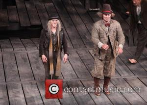 Billy Crudup and Shuler Hensley - Opening Night Curtain Call for Broadway's Waiting For Godot at the Cort Theatre. -...