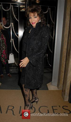Joan Collins - The Claridge's Christmas tree unveiling party held at Claridge's Hotel - Outside Arrivals - London, United Kingdom...