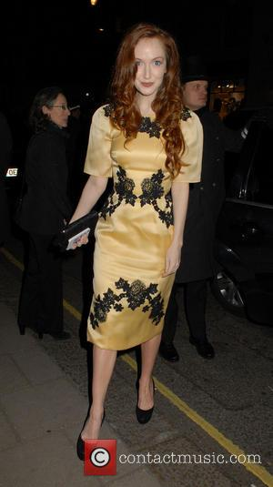 Olivia Grant - The Claridge's Christmas tree unveiling party held at Claridge's Hotel - Outside Arrivals - London, United Kingdom...