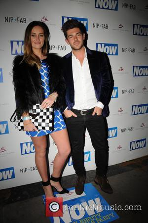 Fran Newman-Young and Alex Mytton - Now Magazine Christmas Party at Soho Sanctum Hotel - Arrivals - London, United Kingdom...