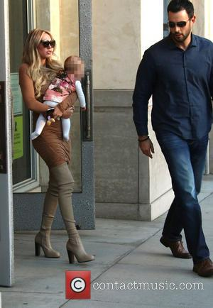Petra Ecclestone and Lavinia Stunt - Petra Ecclestone out and about on North Beverly Drive in Beverly Hills carrying daughter...