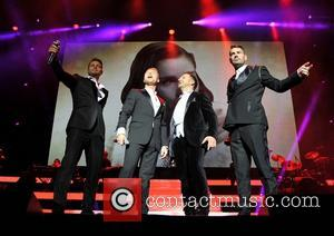 Keith Duffy, Ronan Keating, Mikey Graham and Shane Lynch - Boyzone performing in concert at the O2 Dublin where they...