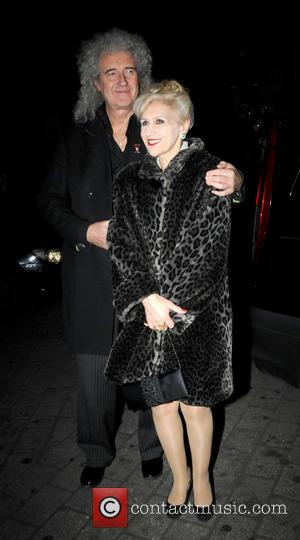 Brian May and Anita Dobson - Celebrities enjoying a nightout in London - London, United Kingdom - Thursday 28th November...