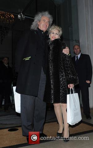 Bryan May and Anita Dobson