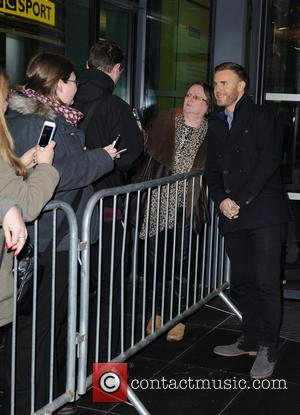 Gary Barlow - Celebrities at Media City in Manchester after appearing on BBC Breakfast - Manchester, United Kingdom - Thursday...