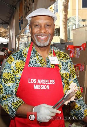 James Pickens Jr. - LA Mission's Annual Thanksgiving For The Homeless - Los Angeles, California, United States - Thursday 28th...