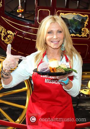 Pamela Bach - LA Mission's Annual Thanksgiving For The Homeless - Los Angeles, California, United States - Thursday 28th November...