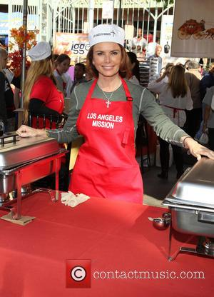 Roma Downey - LA Mission's Annual Thanksgiving For The Homeless - Los Angeles, California, United States - Thursday 28th November...