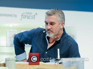 Paul Hollywood - Paul Hollywood and Mary Berry give a baking class in the Chefs Supertheatre at the BBC Good...