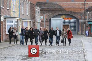 Michelle Keegan, Brooke Vincent, Alison King, Kym Marsh, Simon Gregson, Andy Whyment, Sue Nichols, Samia Ghadie Chris Gascoyne Marc Baylis, Paula Lane and Jane Danson