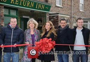 Samia Ghadie, Andy Whyment, Sue Nichols, Chris Gascoyne and Coronation Street