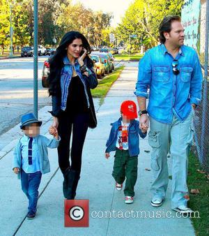 Joyce Giraud, Valentino Ohoven, Leonardo Ohoven and Michael Ohoven - Joyce Giraud and her husband Michael Ohoven take their sons...