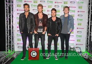 Lawson, Andy Brown, Adam Pitts, Joel Peat and Ryan Fletcher - Free Radio Live 2013 held at Birmingham LG Arena...