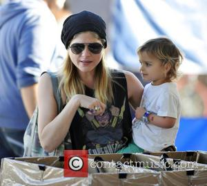 Selma Blair and Arthur Bleick - A blonde Selma Blair and her son Arthur Bleick seen at Laurel Canyon farmers...