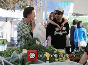 Donal Logue, Gilles Marini and Julianna Marini - Son's of Anarchy actor Donal Logue and Gilles Marini enjoy the Farmers...
