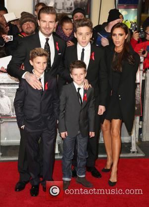 David Beckham, Brooklyn Beckham, Cruz Beckham, Romeo Beckham and Victoria Beckham