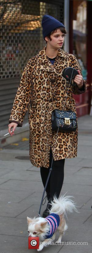 Pixie Geldof - Pixie Geldof, Daisy Lowe and Nick Grimshaw attend the Christmas Fair in Primrose Hill - London, United...
