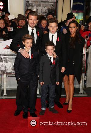David Beckham, Victoria Beckham, Brooklyn Beckham, Romeo Beckham and Cruz Beckham