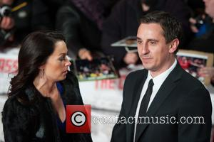 Gary Neville and Guest - The World Premiere of 'The Class of 92' at Odeon West End - Arrivals -...