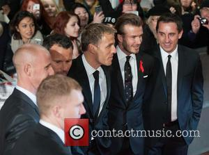 Phil Neville, Ryan Giggs, Nicky Butt, Paul Scholes, David Beckham and Gary Neville - The World Premiere of 'The Class...