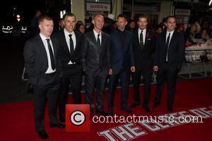 Paul Scholes Phil Neville, Nicky Butt, Ryan Giggs, David Beckham and Gary Neville