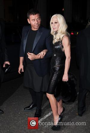 Donatella Versace and Guest - Playboy's 60th anniversary issue party hosted by Marc Jacobs and Kate Moss at The Playboy...
