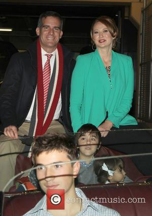 Mayor Eric Garcetti and Amy Wakeland