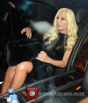 Donatella Versace - Celebrities at Claridge's hotel in Mayfair - London, United Kingdom - Monday 2nd December 2013