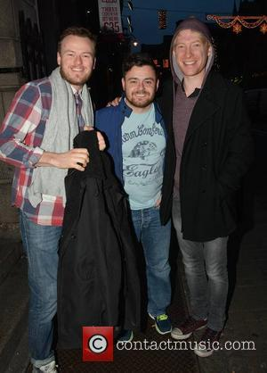 Paul Reid, Laurence Kinlan and Domhnall Gleeson