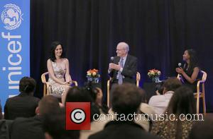Katy Perry, Anthony Lake and Hannah Godefa