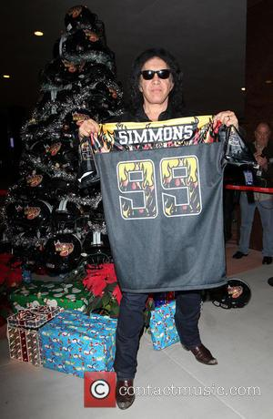 Gene Simmons - LA KISS Unveil KISSMAS Campaign with Children's Hospital of Orange County at Honda Center in Anaheim -...