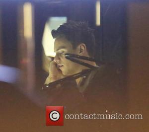 Tom Daley - Tom Daley leaving Itsumo Japanese Restaurant after having dinner with friends. Tom was earlier recording for the...