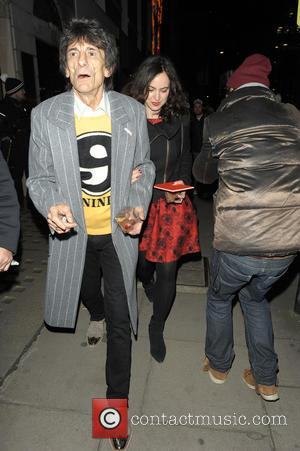 Ronnie Wood and Sally Wood - Stella McCartney Christmas Lights Switch On - London, United Kingdom - Wednesday 4th December...