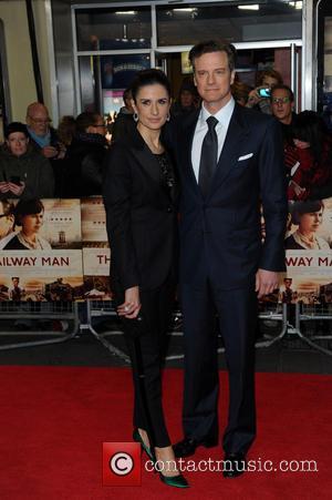 Livia Guggioli and Colin Firth
