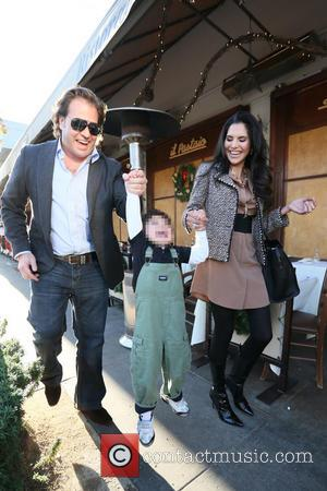 Joyce Giraud, Valentino Ohoven and Michael Ohoven - Joyce Giraud leaving Il Pastaio restaurant in Beverly Hills, with her husband...