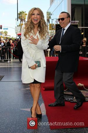 Thalia - Thalia is honored with a Star on the Hollywood Walk of Fame - Hollywood, California, United States -...