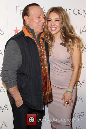 Tommy Mottola and Thalia - Macy's celebrates Latin superstar Thalia - Arrivals - Los Angeles, California, United States - Thursday...