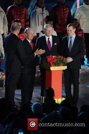 Mayor Michael Bloomberg, Jerry I. Speyer and Rob Speyer