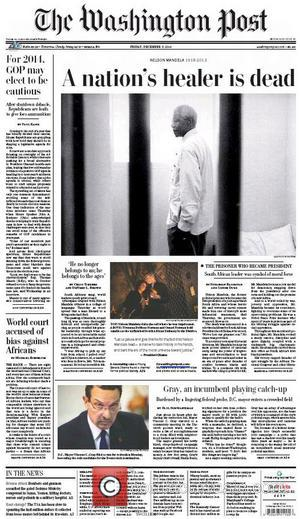 Front Pages From Around, The World and Nelson Mandela Dies