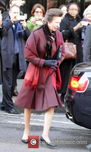 Princess Anne - Princess Anneis leaves the South African Embassy. - London, United Kingdom - Friday 6th December 2013