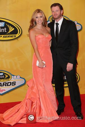 Las Vegas, Dale Earnhardt Jr and Amy Reimann