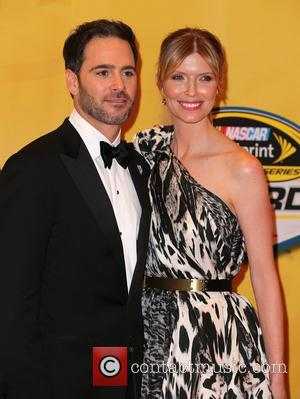 Las Vegas, Jimmie Johnson and Chandra Johnson