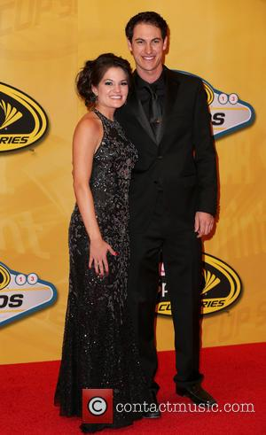 Las Vegas, Joey Logano and Brittany Baca