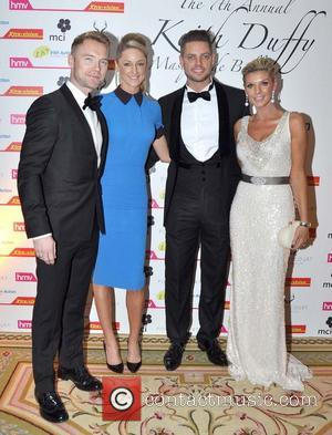 Ronan Keating, Storm Uechtritz, Keith Duffy and Lisa Duffy