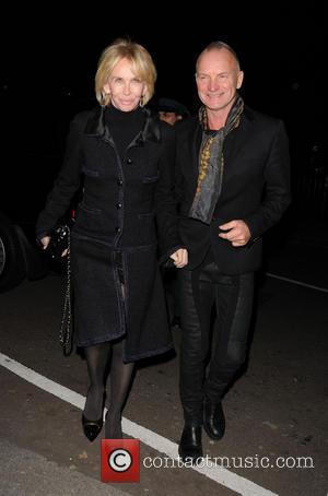Trudie Styler and Stine - attend Lady Gaga Concert at Annabels Club - London, United Kingdom - Saturday 7th December...