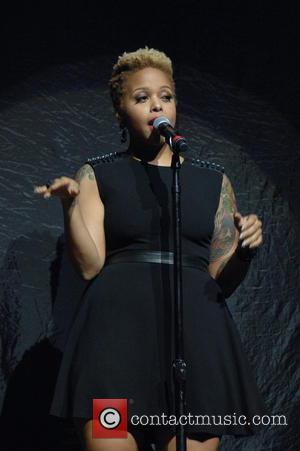Chrisette Michele - Jaheim with Chrisette Michele in concert on their Appreciation Tour at the Verizon Theatre Grand Prairie -...