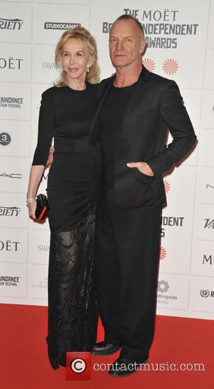Trudie Styler and Sting - Moet British Independent Film Awards held at Old Billingsgate Market - Arrivals - London, United...