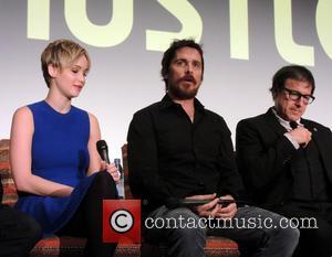 Jennifer Lawrence, Christian Bale and David O. Russell